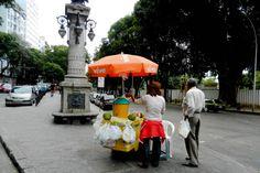 Coconut water stand in centro Rio De Janeiro