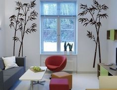 $6.08 AmazonSmile - Hotportgift Bamboo Mural Home Decor Decals Decorative Removable Craft Art Wall Stickers