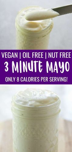 This Vegan Mayonnaise Recipe Is Easy Oil Free And Perfect Anywhere You Need Mayo Plantbased Oilfree Oil Free Vegan Recipes Vegan Mayonaise Vegan Mayonnaise