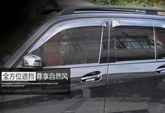 For Mercedes-Benz GLK X204 2008 - 2015 Exterior Window Visor Vent Shade Rain/Sun/Wind Guard Cover Trim 4pcs