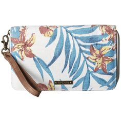 Rip Curl Tropicana Oversized Wallet (Natural) ($40) ❤ liked on Polyvore featuring bags, wallets, zip around wristlet, oversized wallets, handle bag, zip around wristlet wallet and rip curl bags