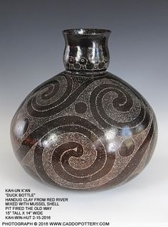 K'ah-un K'an Duck Bottle Traditional Caddo Bottle handmade by Chase Kahwinhut Earles