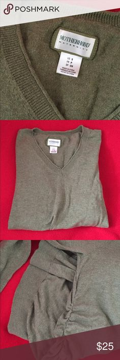 Motherhood maternity sweater Good condition, does have some pilling. Beautiful green color. size small. Pet friendly smoke free home Motherhood Maternity Sweaters V-Necks