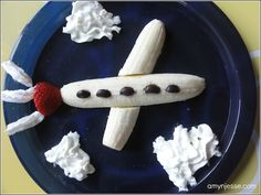 Kids airplane healthy dessert