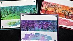 Easy Inky Treescape Friendship Cards! (Plus bonus stamp storage tips!)