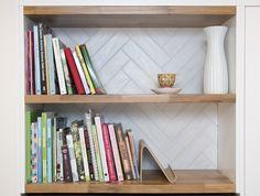 Kitchen Sally Steer Design Wellington NZ Herringbone tiles Design Kitchen, Kitchen Ideas, Herringbone Tile, Sally, Tiles, Bookcase, Kitchens, Shelves, Inspiration