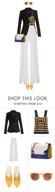 """""""eva 0945"""" by evava-c ❤ liked on Polyvore featuring Balmain and Steve J & Yoni P"""