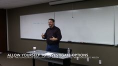 Allow yourself to investigate options from Two Challenges in Building th...