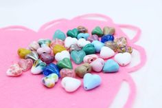 Lampwork Heart Beads by Donna Marie Jewellery