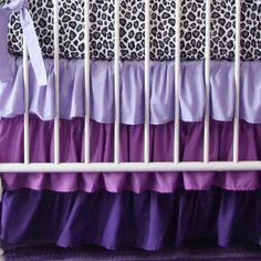 Purple Ruffle Crib Skirt