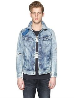 Octopus Patch Recycled Denim Jacket