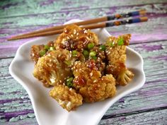 Paleo Oven-Fried Sesame Cauliflower - the preppy paleo