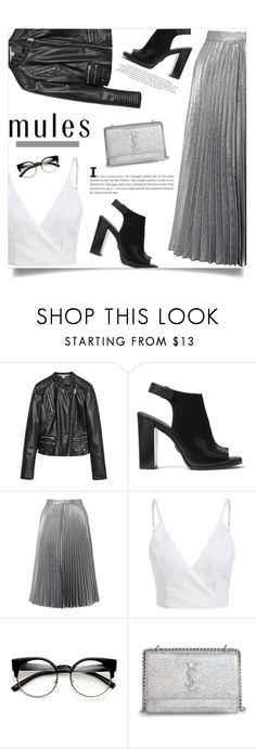 """""""On Spring We Wear Mules! (2)"""" by fashion-bea-16 ❤ liked on Polyvore featuring Zara, Michael Kors, Miss Selfridge, ZeroUV, Yves Saint Laurent and mules"""
