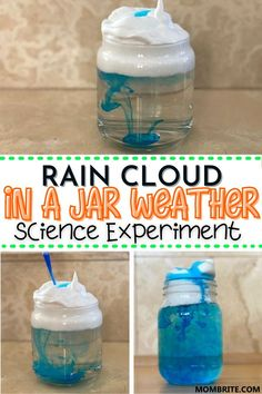 Living in SoCal means my kids rarely get to see rain and thus they have no idea how rain clouds are formed! This Rain Cloud In a Jar experiment is a great weather science experiment to do with your preschooler or elementary schooler to learn all about rain clouds!