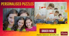 Puzzles make unique gifts for newlyweds, kids, teens and anyone who loves a good puzzle. Personalised puzzles let your loved ones enjoy a memory one piece at a time. Ajooba Stationery & Gifts LLC helps you get a print on a puzzle and make a fun, personalised gift for all ages.  You can also get a puzzle personalised as a gift for your family and friends. Order Now!  #Ajooba #Stationery #Gifts #AjoobaDubai #Puzzle #PersonalisedPuzzle