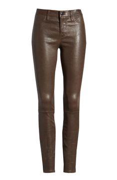 J Brand Lambskin Leather Pants Lambskin Leather, Leather Pants, Designer Trench Coats, Sacks, Assassin, J Brand, Trousers, Nordstrom, Zipper
