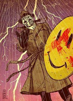 Rorschach's Journal October 1985 Tonight a Comedian died in New York Comic Book Characters, Comic Books Art, Comic Art, Vintage Comics, Vintage Posters, Watchmen Rorschach, Detective Comics, Dark Fantasy Art, Marvel Dc Comics