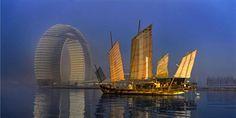 China's New Donut-Shaped Hotel,  Sheraton Huzhou Hot Spring Resort