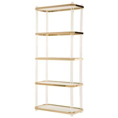 Vintage Lucite & Brass Etagere | From a unique collection of antique and modern shelves at http://www.1stdibs.com/furniture/storage-case-pieces/shelves/