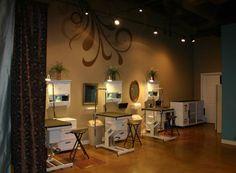 Love the modern spa design of this salon.