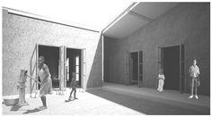 OPERASTUDIO - Competition - Casa patio pavillion - #Luanda - view #render