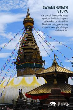 It is one of the world's most glorious Buddhist Stupa (Chaityas) and believed to be more than 2000 years old, presenting a typical example of stupa architecture. This stupa is situated approximately 4 Km west of Kathmandu City. #NepalTour #Kathmandu #Nepal #SwyambhunathStupa