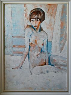 Veen 2014 -Blue akt. Oil on canvas