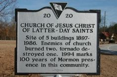 Church Of Jesus Christ Of Latter-Day Saints Marker Photo, Ridgeway, SC. Branham family was involved with building the LDS chapels mentioned. Meetings were held in David Wesley Branham Sr.'s house when chapels were being rebuilt.