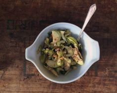 on january: green apple and celery salad with walnuts and mustard vinaigrette | Everybody Likes Sandwiches