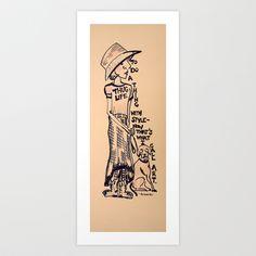thug Art Print by JessWatson
