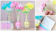 Как сделать ЦВЕТЫ ИЗ САЛФЕТОК. DIY: Paper Napkin Flowers. NataliDoma