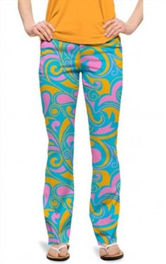 69.18$  Buy now - http://vicfn.justgood.pw/vig/item.php?t=32zcqqx36920 - Loudmouth Golf Ladies Key West Blue Pink Orange Pants size 2 NEW John Daly WILD 69.18$