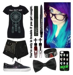 """""""Does anyone else like fall out boy??"""" by temper61 ❤ liked on Polyvore featuring Vans, NARS Cosmetics, Too Faced Cosmetics, Manic Panic and Warpaint"""