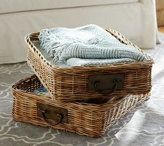 Caden Rectangular Ottoman Basket | Pottery Barn