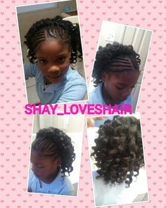 #HalfBraids #HalfMarley crochets  #RodCurled #ByMe #Shay