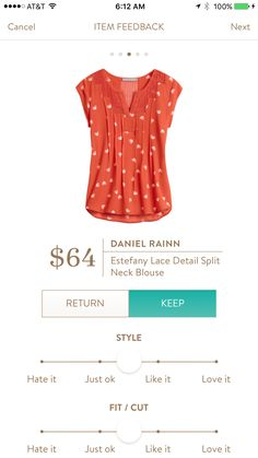 Stitch fix stylist - love the color of this blouse! Would love it in my next fix if the armholes aren't too big!
