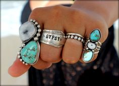 RESERVED Turquoise Statement Ring Big Turquoise by SterlingToLove