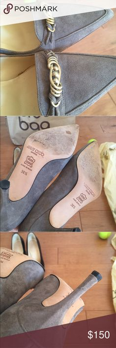 Jimmy choo suede heels. Size 6 In excellent condition. No stain. Worn twice. Authentic jimmy choo. Didn't keep shoebox and dust bag. Reflected on price. No trade. Jimmy Choo Shoes Heels