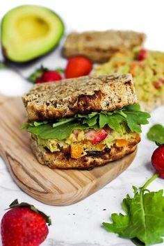 Strawberry Avocado Chickpea Salad Sandwich (vegan & gluten-free)