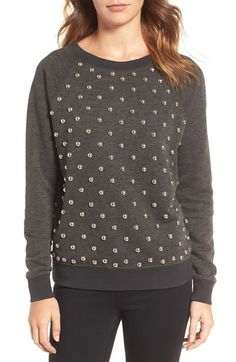 5c0b0be1d0 Free shipping and returns on Rebecca Minkoff Studded Sweatshirt at  Nordstrom.com. Gleaming studs