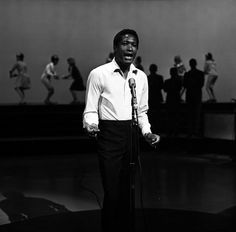 Sam Cooke in 1964, performing on the ABC variety show Shindig! just a few months before his death that December.