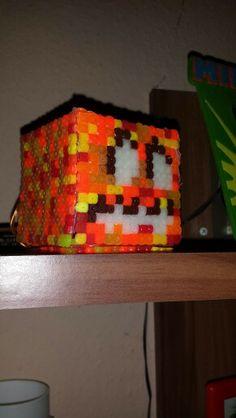 Jack'O Laterne aus Minecraft als kleine Lampe