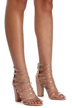 8a1b7804279c Odette Nude Lucite Heels
