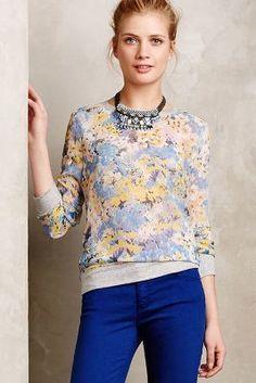 Future Vintage Impressionist Blooms Sweatshirt