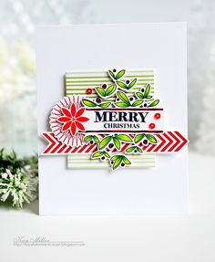 Merry Christmas Card by Kay Miller for Papertrey Ink (July 2016)