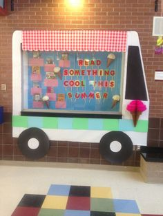 bulletin board awning - Google Search - do something cool this summer (have a bunch of facs related ideas) .... Reading Summer Food Sweets Theme Idea