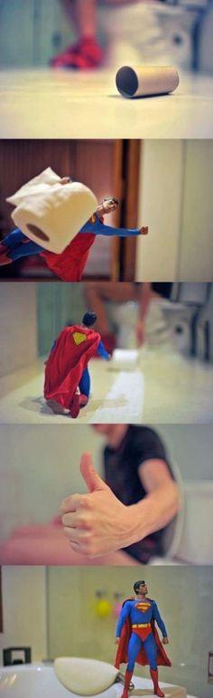 The Toilet Paper Man of Steel
