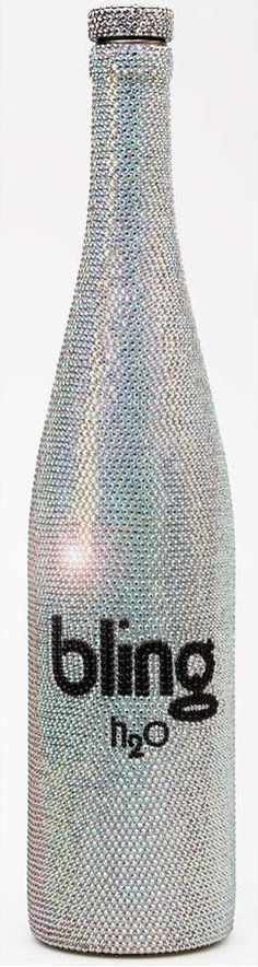 $2,500 Water Bottles - The latest in luxury bottled water from Bling Beverages is this $2,500 Swarovski-crystal-covered corked glass bottle, which is the result of a coll...