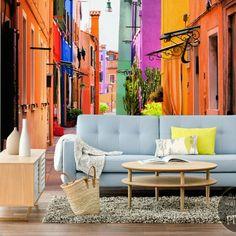 Fotomural Color de Callejón  - inspiración , galería de interiores • PIXERS.es