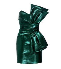 Saint Laurent - Cotton-blend metallic strapless dress - Hedi Slimane went out…